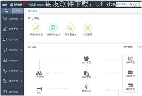 畅捷通T+12.1普及版软件操作界面图示