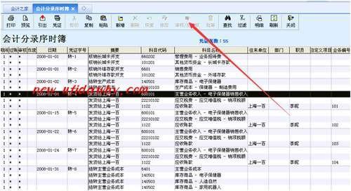 金蝶KIS记账王如何反审核凭证的操作教程
